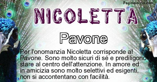 Nicoletta - Animale associato al nome Nicoletta