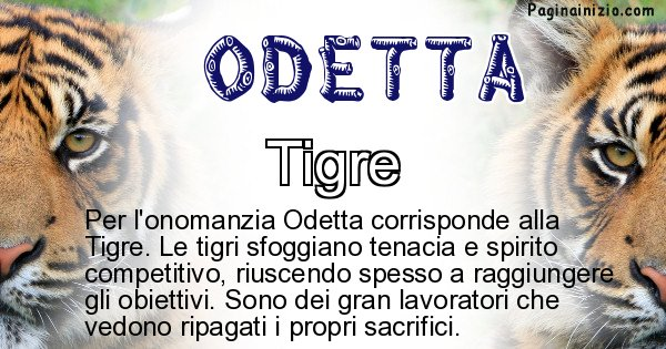 Odetta - Animale associato al nome Odetta