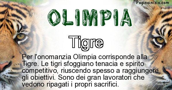 Olimpia - Animale associato al nome Olimpia