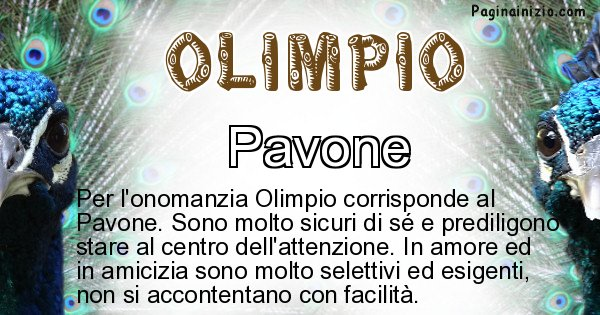 Olimpio - Animale associato al nome Olimpio