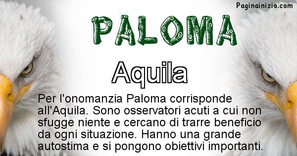 Paloma - Animale associato al nome Paloma