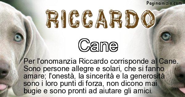 Riccardo - Animale associato al nome Riccardo