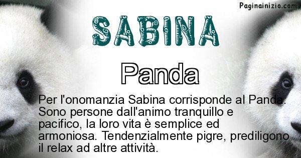 Sabina - Animale associato al nome Sabina