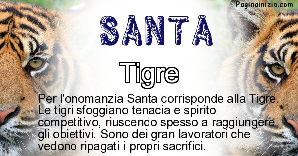 Santa - Animale associato al nome Santa