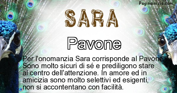 Sara - Animale associato al nome Sara
