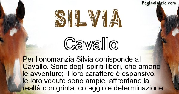 Silvia - Animale associato al nome Silvia