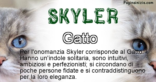 Skyler - Animale associato al nome Skyler