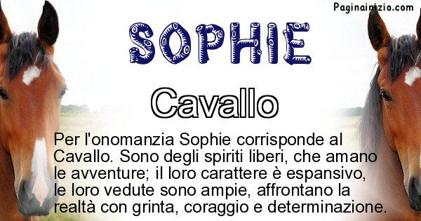 Sophie - Animale associato al nome Sophie