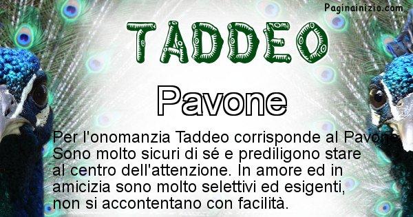 Taddeo - Animale associato al nome Taddeo