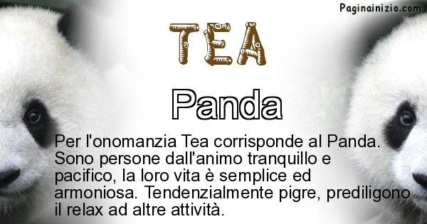Tea - Animale associato al nome Tea