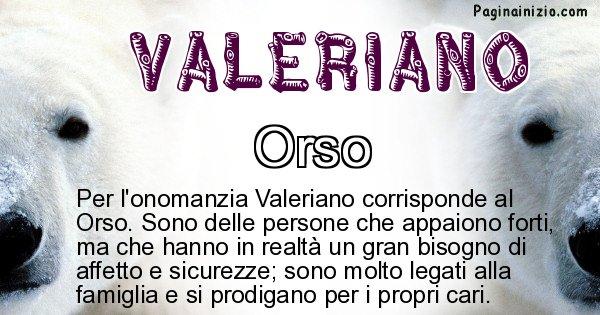 Valeriano - Animale associato al nome Valeriano