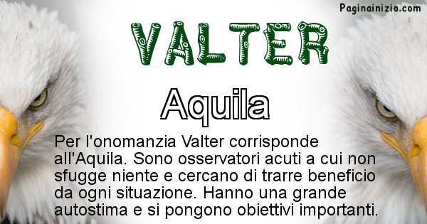 Valter - Animale associato al nome Valter