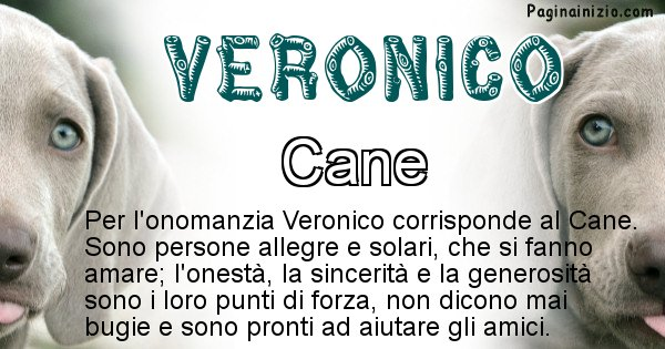 Veronico - Animale associato al nome Veronico