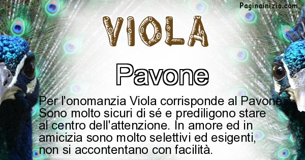 Viola - Animale associato al nome Viola