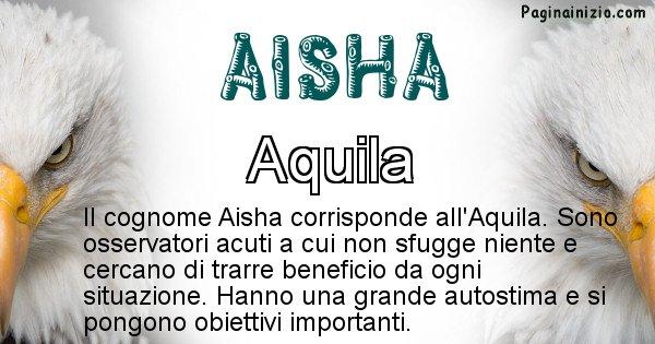Aisha - Scopri l'animale affine al cognome Aisha