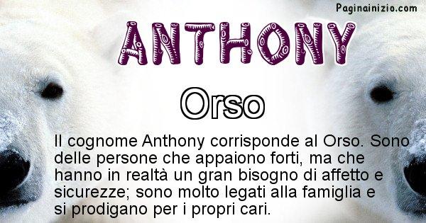 Anthony - Scopri l'animale affine al cognome Anthony
