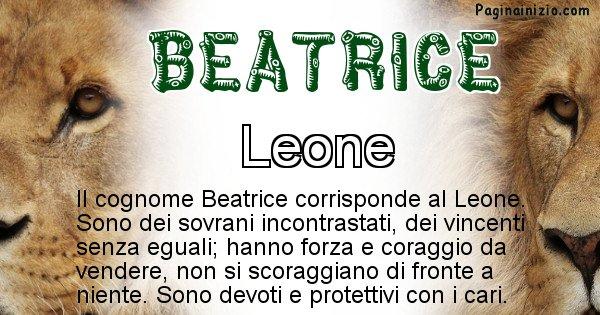 Beatrice - Scopri l'animale affine al cognome Beatrice