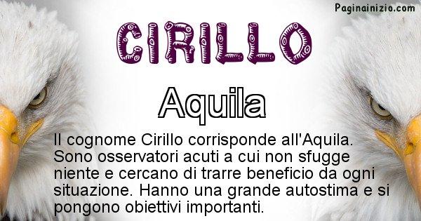 Cirillo - Scopri l'animale affine al cognome Cirillo