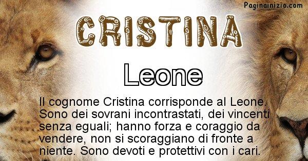Cristina - Scopri l'animale affine al cognome Cristina