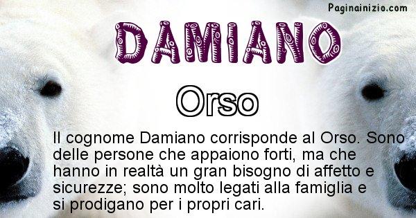 Damiano - Scopri l'animale affine al cognome Damiano