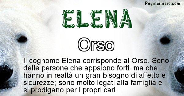 Elena - Scopri l'animale affine al cognome Elena