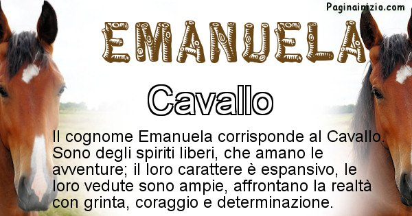 Emanuela - Scopri l'animale affine al cognome Emanuela