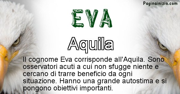 Eva - Scopri l'animale affine al cognome Eva