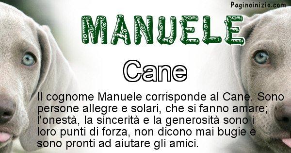 Manuele - Scopri l'animale affine al cognome Manuele