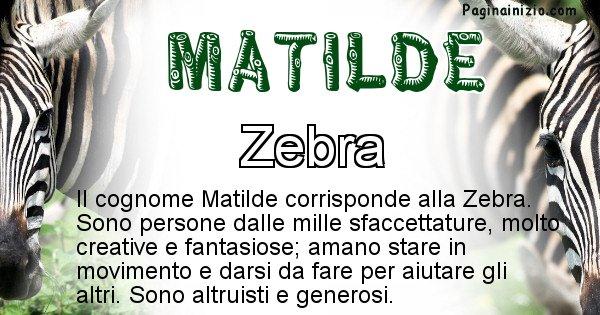 Matilde - Scopri l'animale affine al cognome Matilde