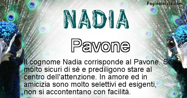 Nadia - Scopri l'animale affine al cognome Nadia