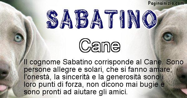 Sabatino - Scopri l'animale affine al cognome Sabatino