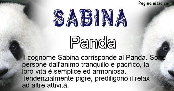 Sabina - Scopri l'animale affine al cognome Sabina
