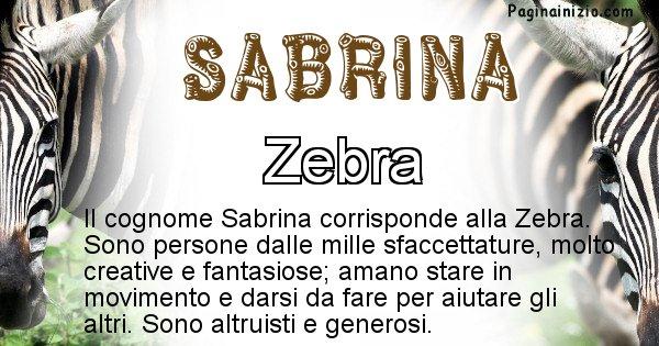 Sabrina - Scopri l'animale affine al cognome Sabrina