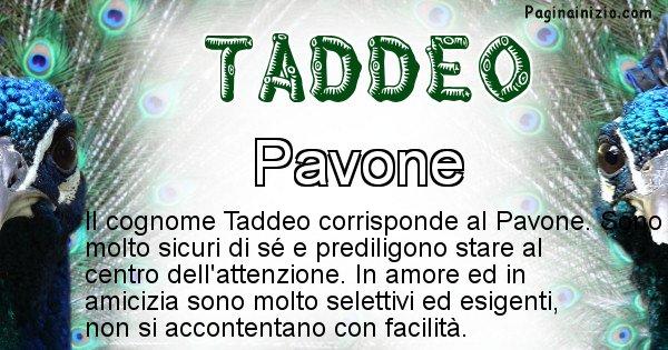 Taddeo - Scopri l'animale affine al cognome Taddeo