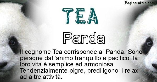 Tea - Scopri l'animale affine al cognome Tea