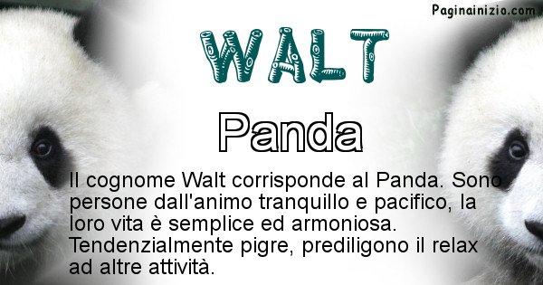 Walt - Scopri l'animale affine al cognome Walt