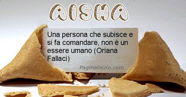 Aisha - Biscotto della fortuna per Aisha