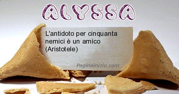Alyssa - Biscotto della fortuna per Alyssa