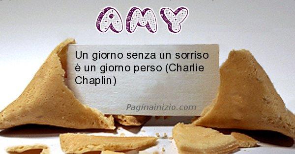 Amy - Biscotto della fortuna per Amy
