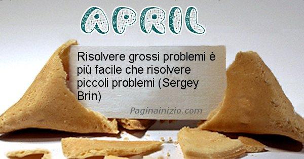 April - Biscotto della fortuna per April