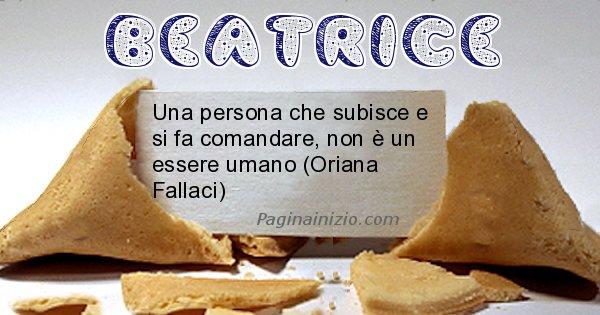 Beatrice - Biscotto della fortuna per Beatrice
