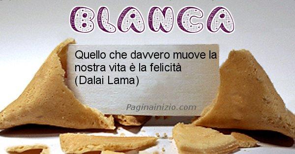 Blanca - Biscotto della fortuna per Blanca