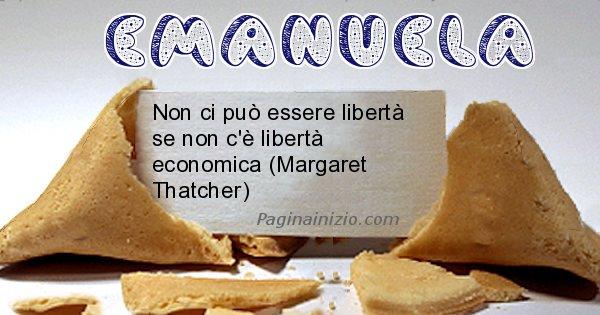 Emanuela - Biscotto della fortuna per Emanuela