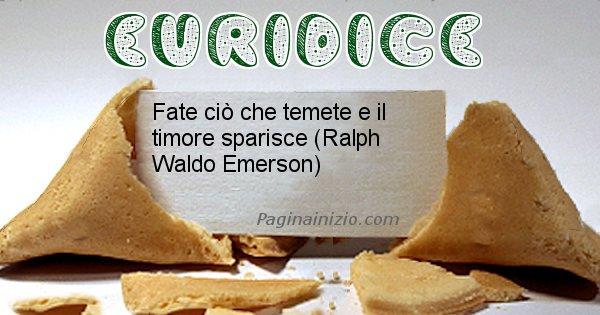 Euridice - Biscotto della fortuna per Euridice
