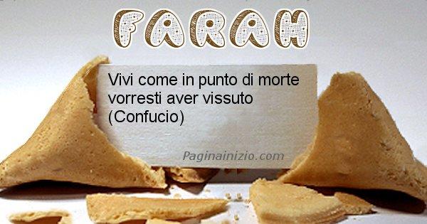 Farah - Biscotto della fortuna per Farah