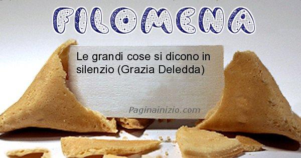 Filomena - Biscotto della fortuna per Filomena