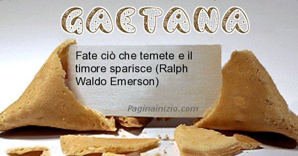 Gaetana - Biscotto della fortuna per Gaetana