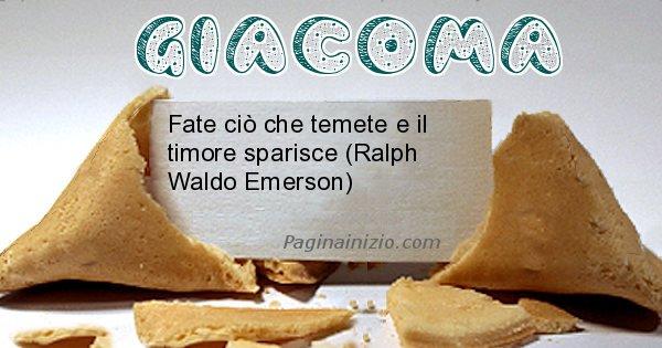 Giacoma - Biscotto della fortuna per Giacoma
