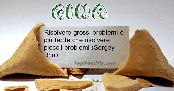 Gina - Biscotto della fortuna per Gina
