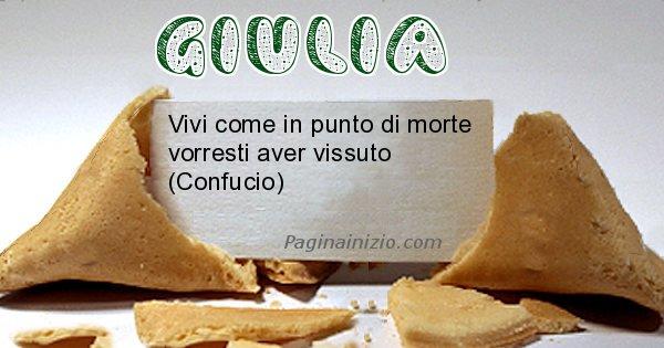 Giulia - Biscotto della fortuna per Giulia